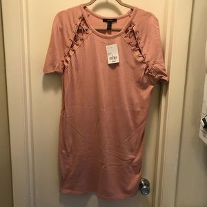 NWT Forever 21 pink t-shirt dress
